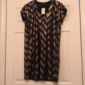 HM sequin shift dress